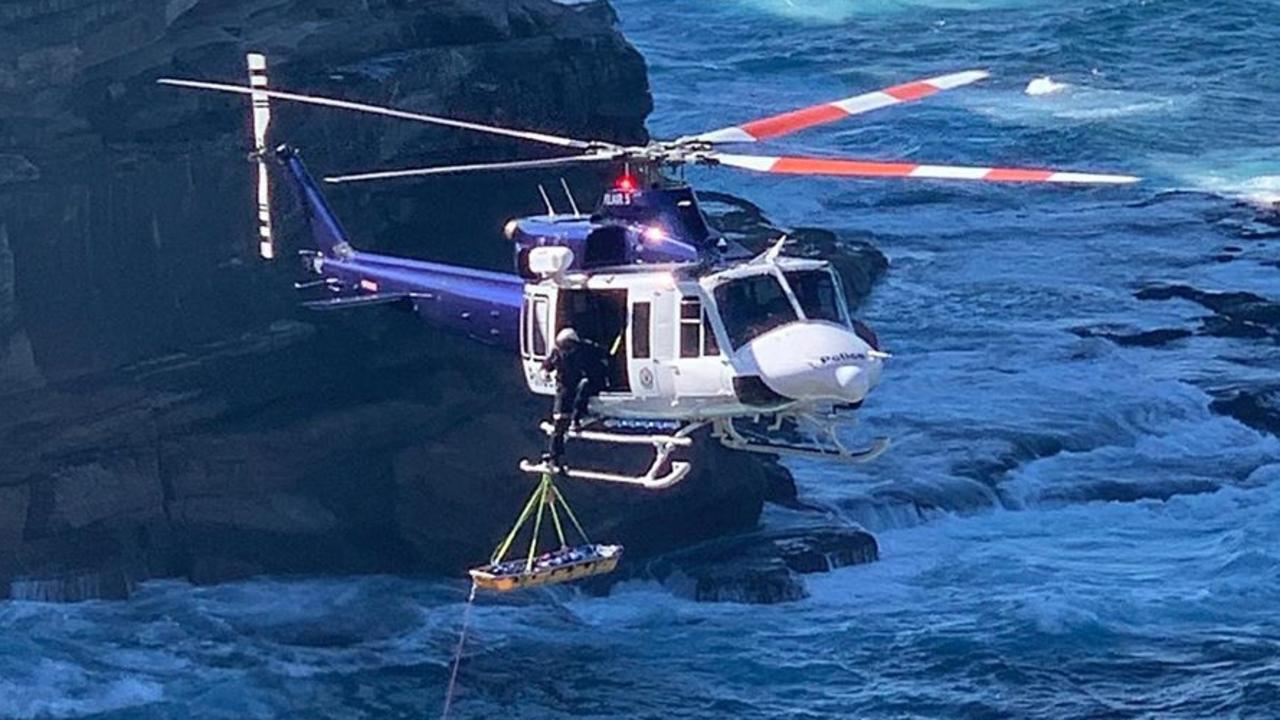 Emergency services were on the scene at Diamond Bay Reserve this morning after a woman fell to her death. Picture: Instagram @richardmovsessian