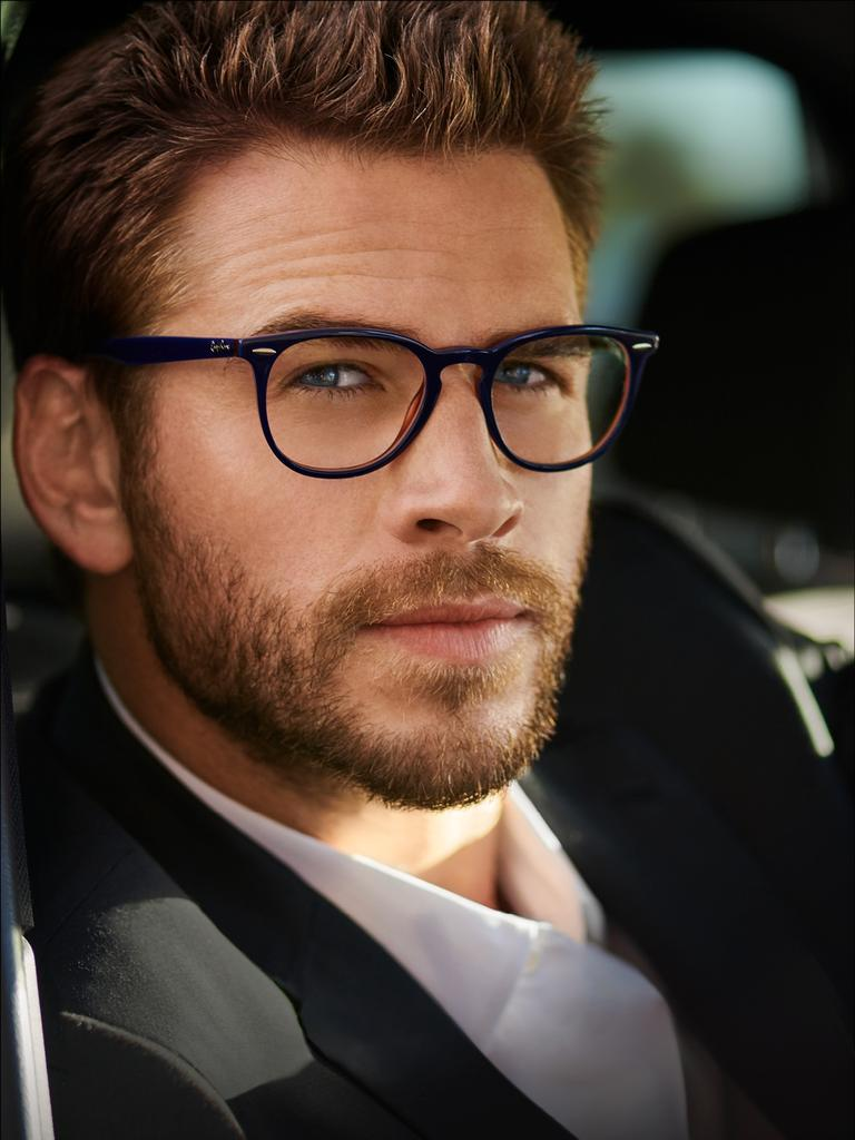 Hemsworth in a campaign for OPSM. Picture: Hugh Stewart
