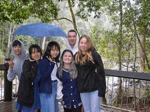 Japanese students sample rural life