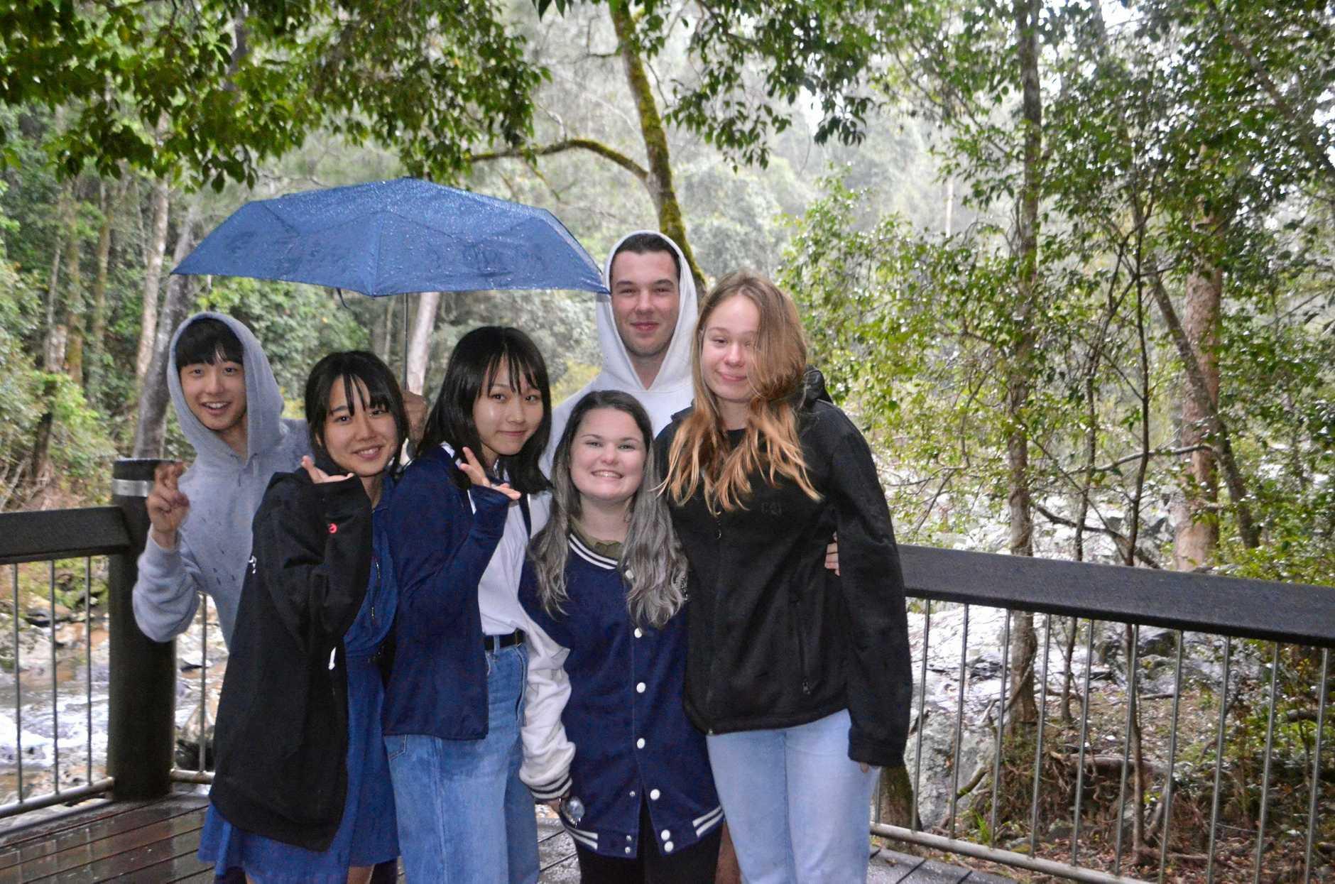 BUSH FUN: Yujin Sasaki, Iwasa Momo, Ai Enomoto, Shinae McEvoy, Pacey Webb and Lainey Cornwall.