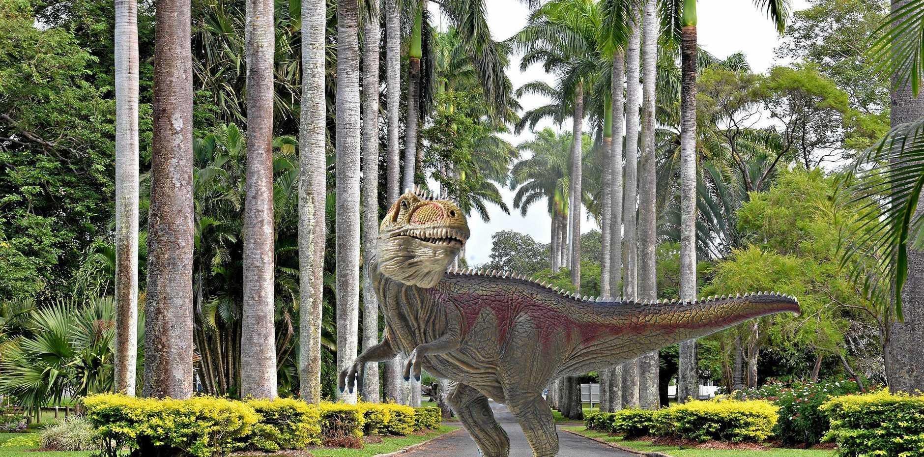 PREHISTORIC THRILLER: A dinosaur