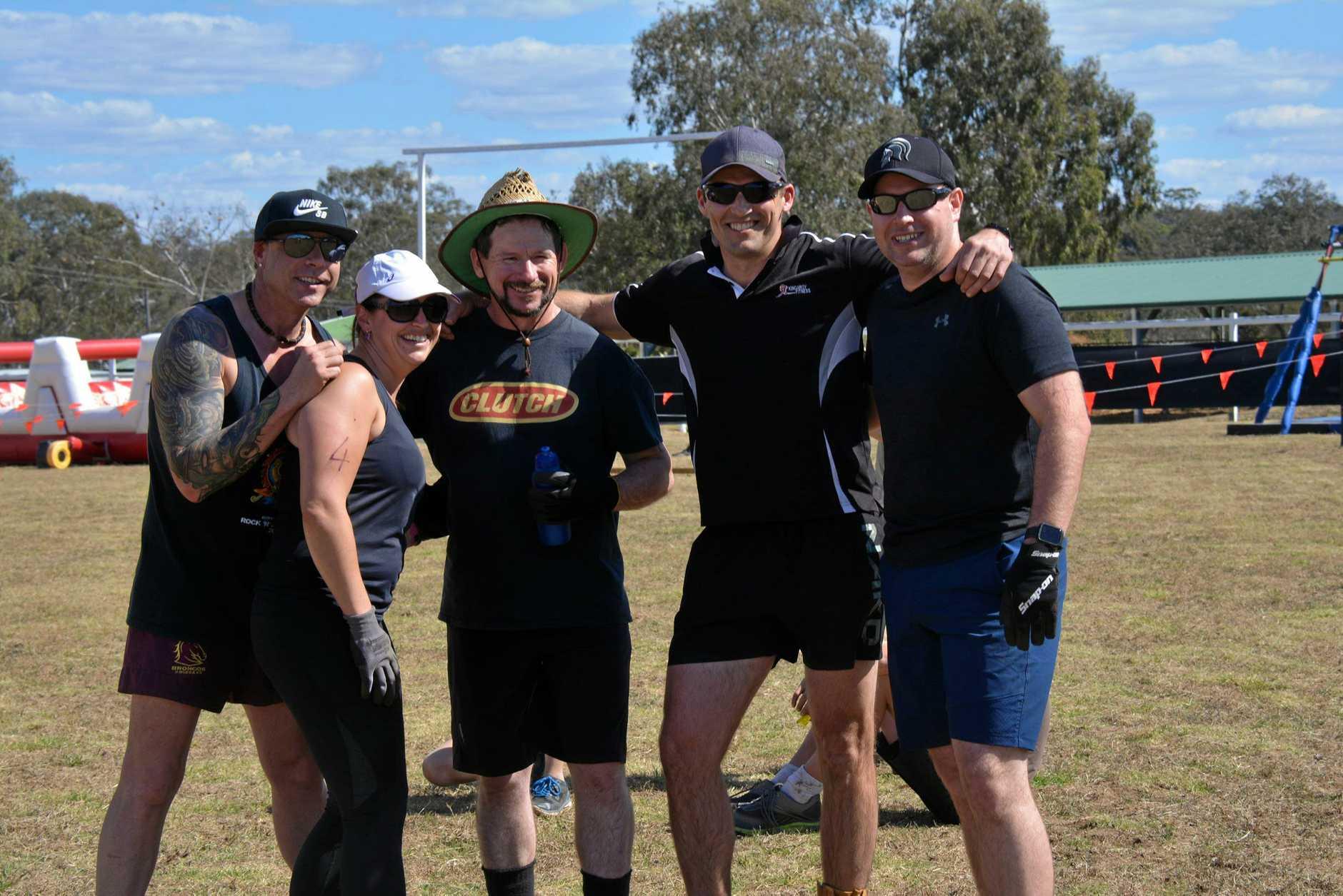 Kingaroy Fitness team: Steven Eckart, Adrian Maybon, Keenan Limb, Chris Arnold, and Emma Corrigan.