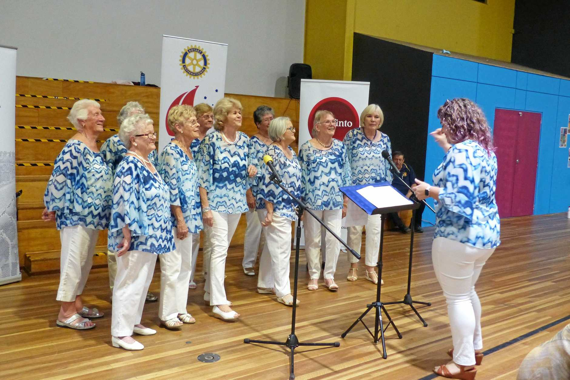 The Gladstone Musical Society entertained the crowd at the Rotary Club of South Gladstone's annual seniors dinner on Saturday night.
