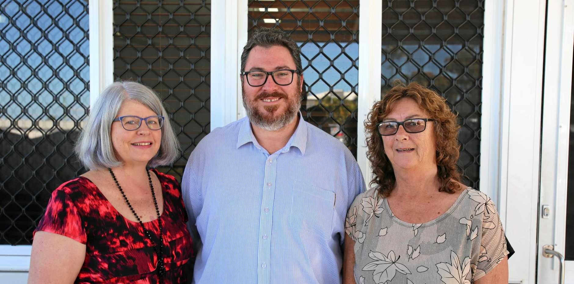Justine McAllister, owner and registered psychologist at Just In Mind Psychology, Federal Member for Dawson George Christensen and Bowen Flexicare operations manager Mandy Edwards were happy to be able to accept the NDIS funding.