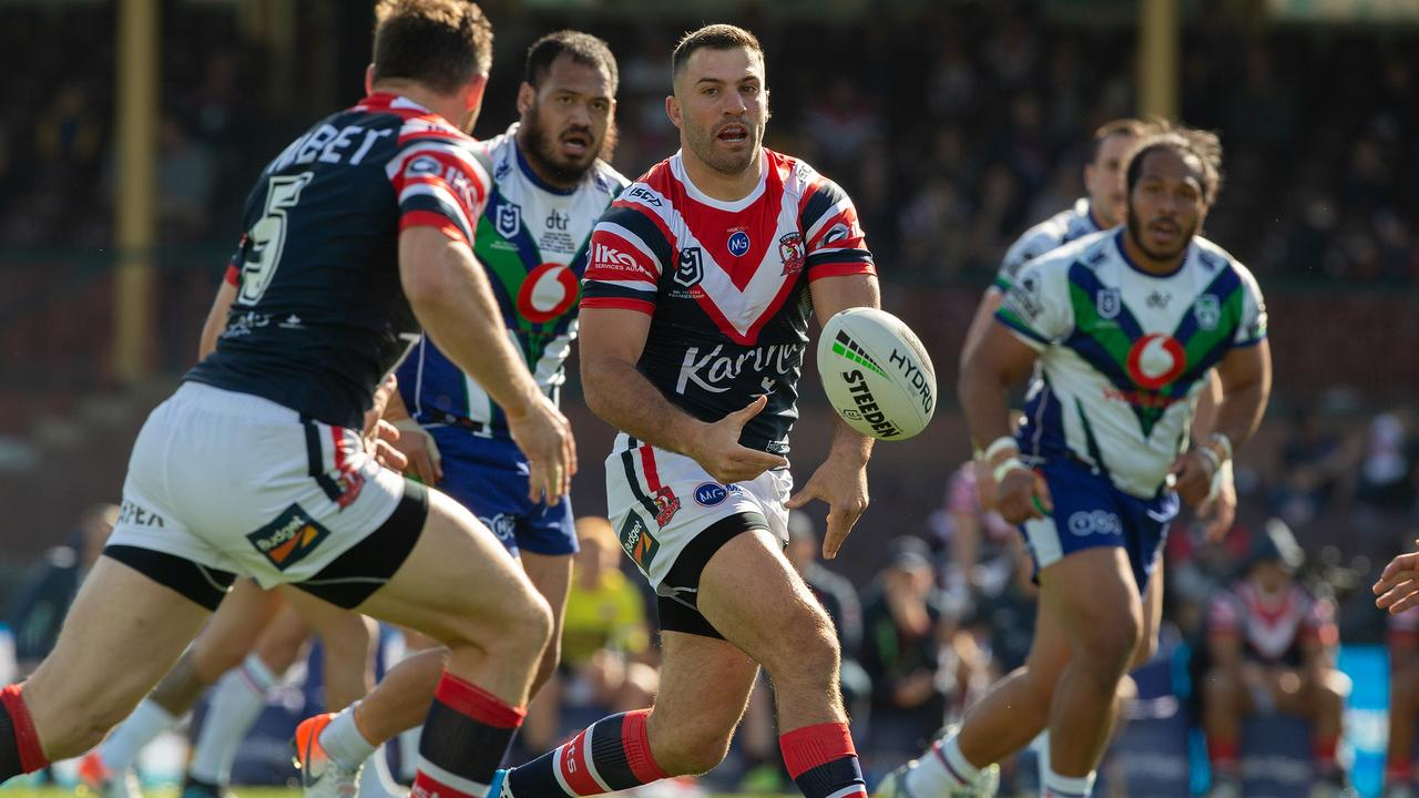 James Tedesco was no fire again for the Roosters. Picture: AAP