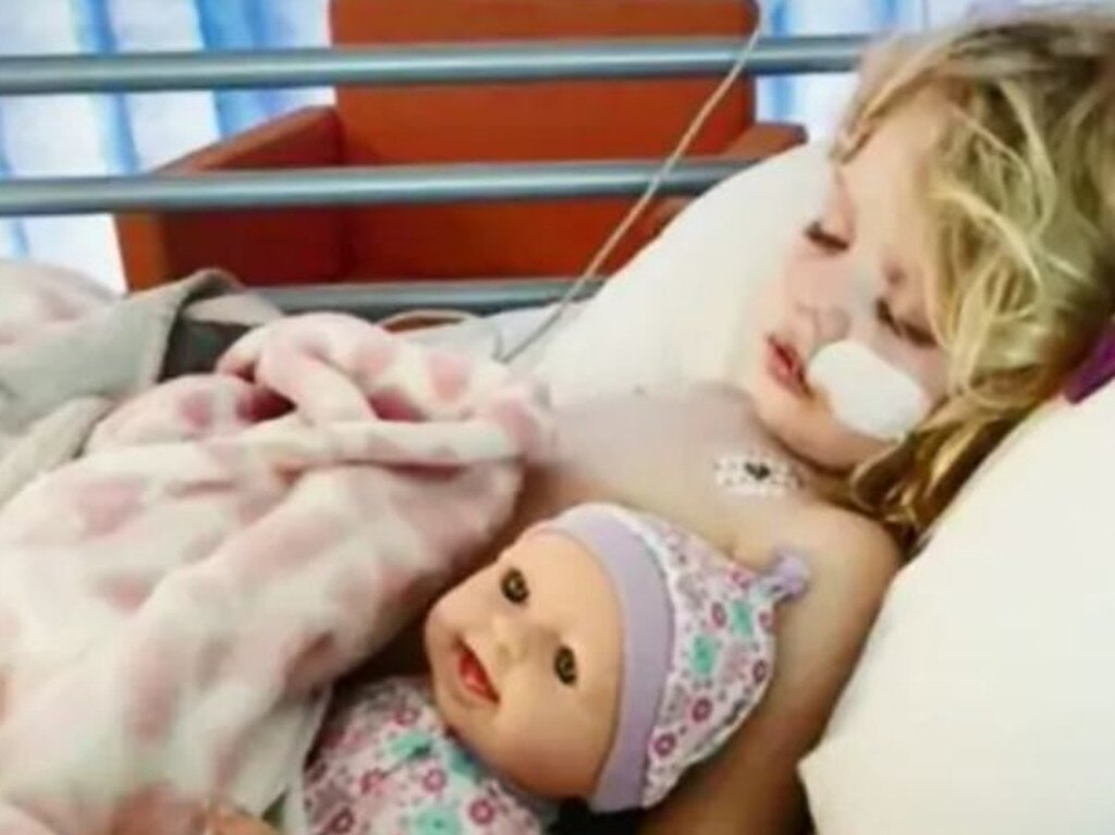 Hayley's flu sparked a secondary infection in her brain. Picture: Nine News