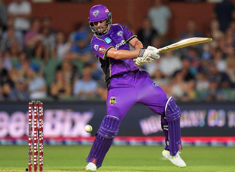Alex Doolan playing for the Hobart Hurricanes in the Big Bash League match against Adelaide Strikers. Picture: GETTY