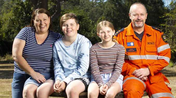 The angels in orange who saved a family from floods