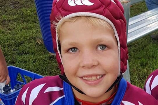 ON THE MEND: Eight-year-old Jaxon Green is beginning to show signs of improvements after being hit by a car on the Warrego Highway a week ago.