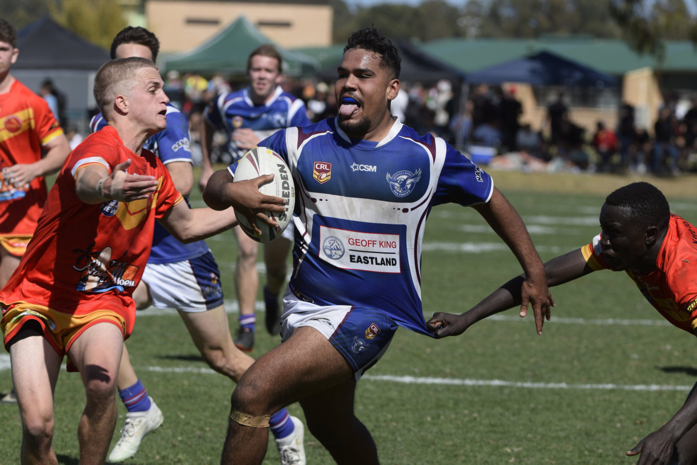 Action in the Group 2 under-18s grand final between the Coffs Harbour Comets and Macksville Sea Eagles.