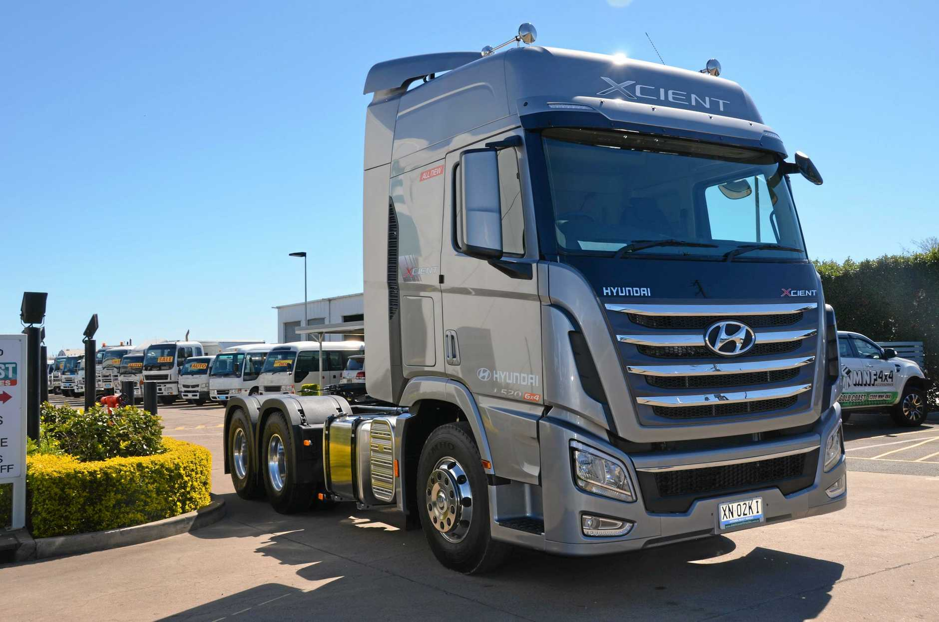 GREAT PRIME MOVER: The South Koren brand has bought the Hyundai Xcient to Australia.