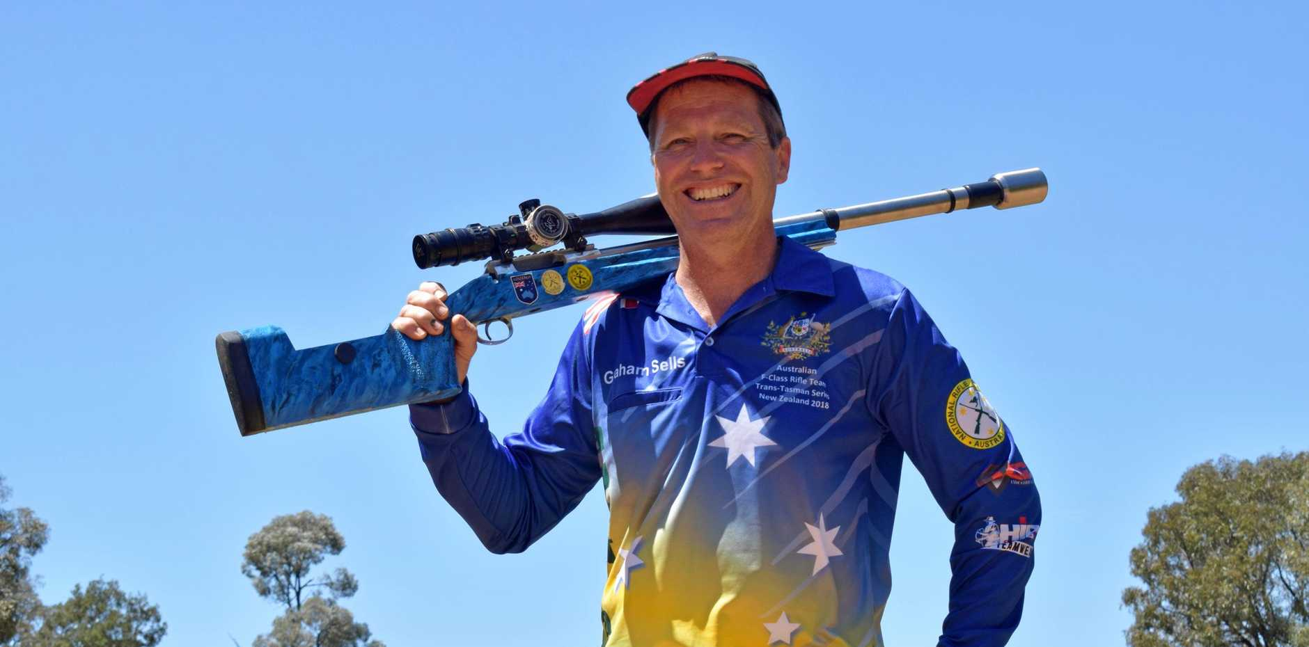 PERSEVERANCE: Chinchilla shooter Graham Sells will compete in the Queensland F Open rifle team in September at Pinjar, Western Australia.