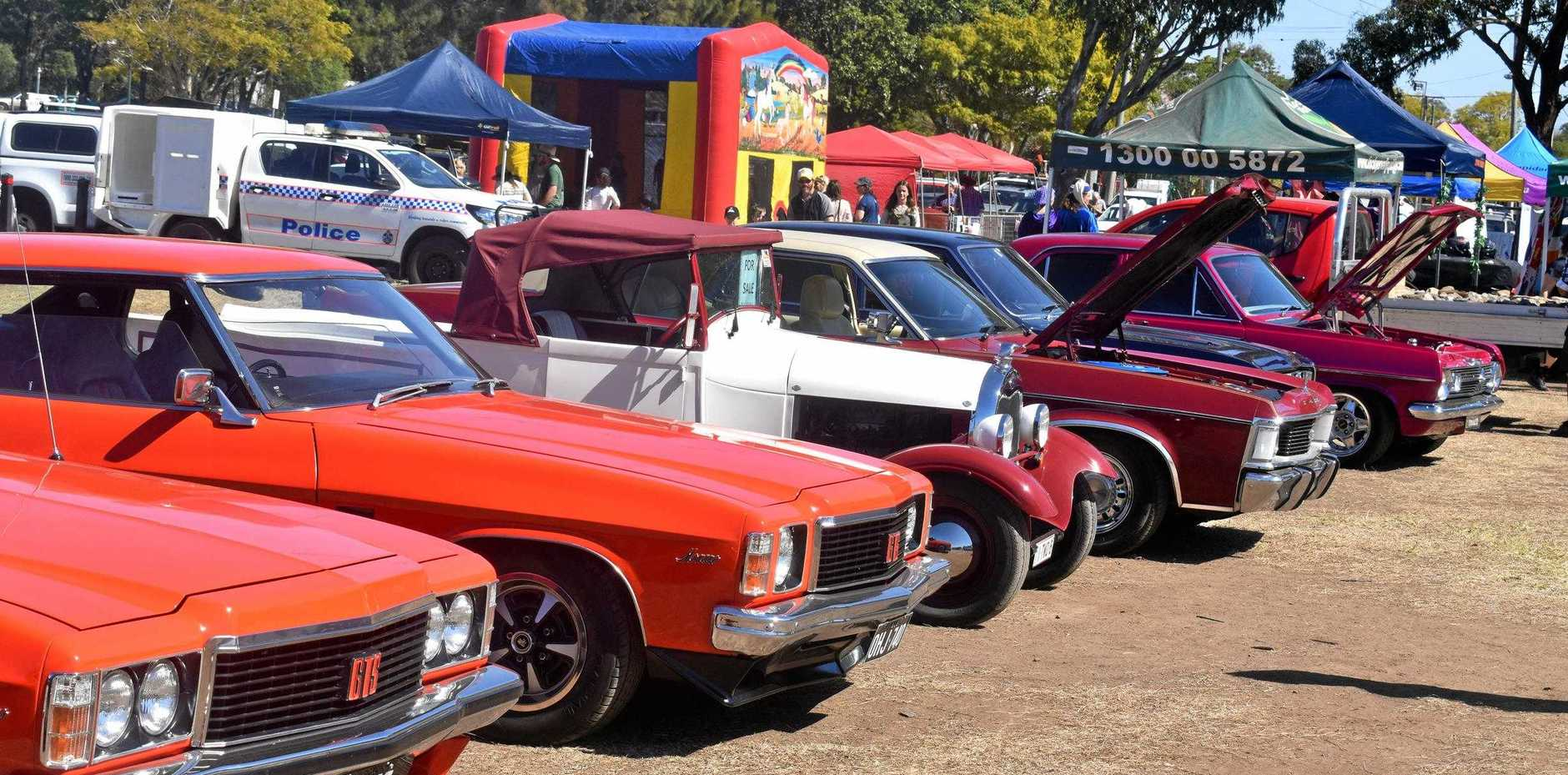 Car display at the festival