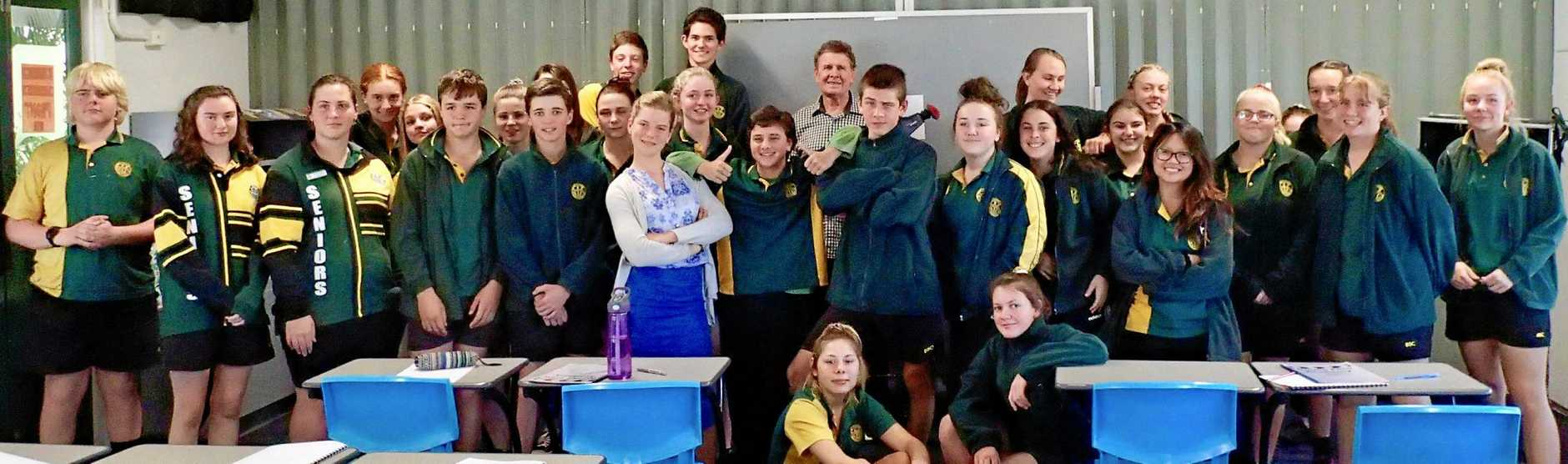 Burnett State College students at the Noosa Film Academy workshop.