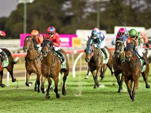 Warwick track rider worried by wide barrier in TAB races