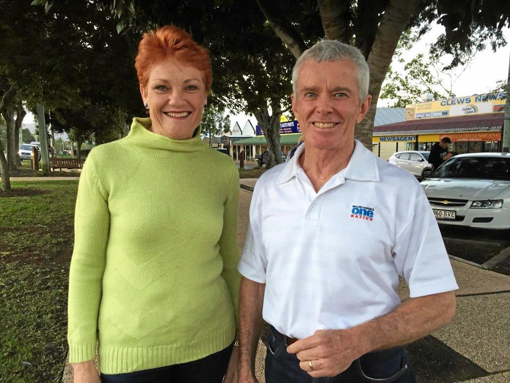 One Nation senators Pauline Hanson and Malcolm Roberts.