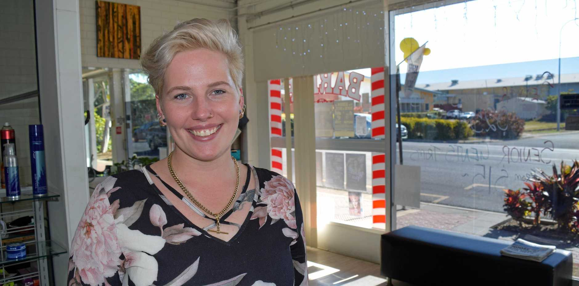 Jess Zelow of Hart of Hair believes Maryborough's support has be phenomenal in helping her business stay afloat.
