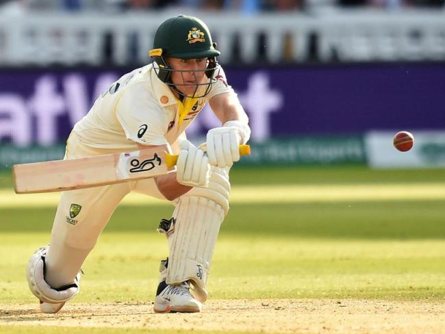 Marnus Labuschagne scored a half century as Steve Smith's concussion replacement.