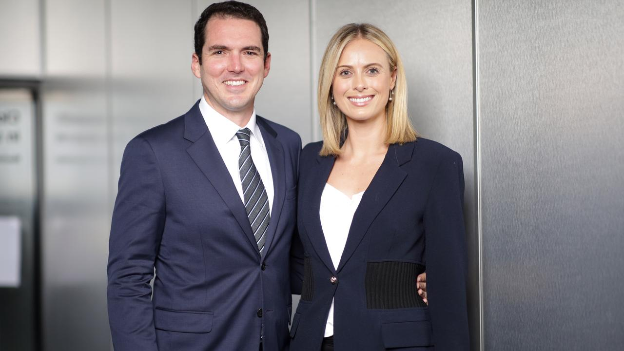 Peter Stefanovic and Sylvia Jeffreys at the Sky News Lawyer X The Untold Story Screening held at Foxtel on Oxford in Paddington. Picture: Christian Gilles
