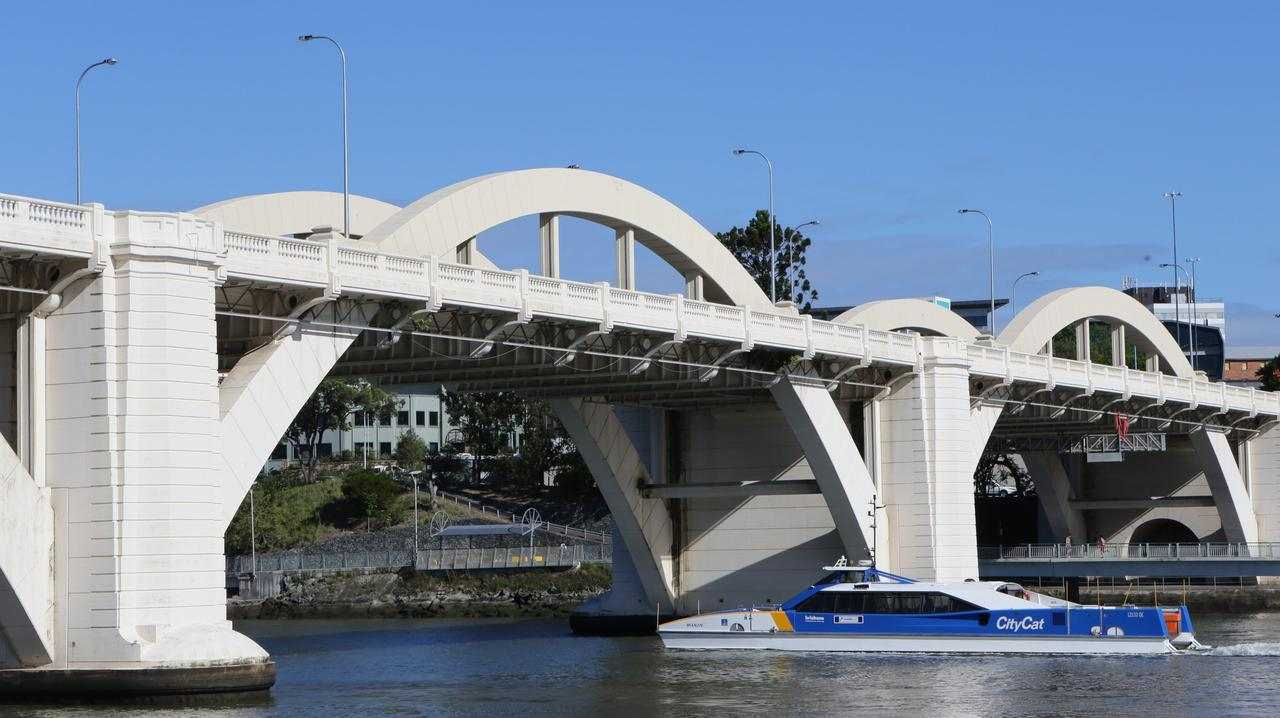 Traffic was briefly blocked on Brisbane's William Jolly Bridge. File picture