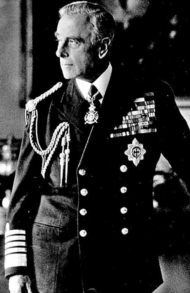 Lord Louis Mountbatten wearing Admiral of the Fleet uniform. Picture: Supplied