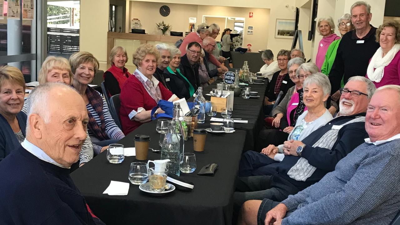 A typically busy Coffee and Chat Morning, held by the Buderim Mountain Probus Club.