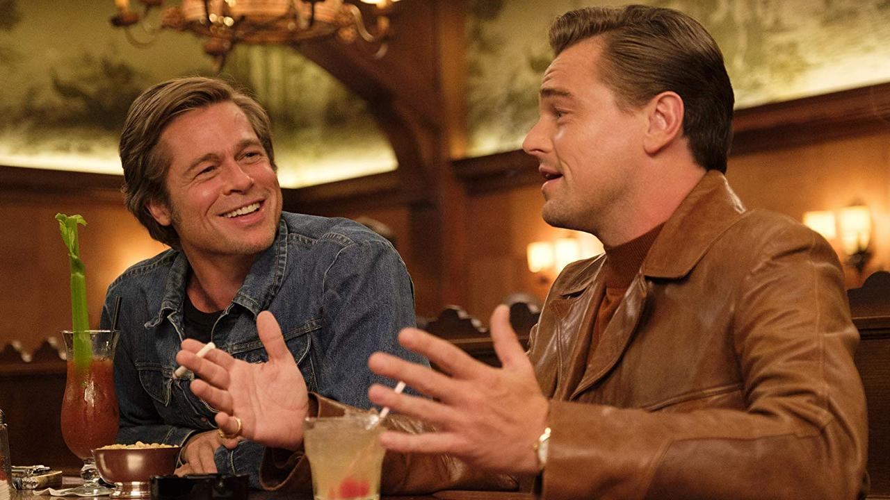 Brad Pitt and Leonardo DiCaprio in Once Upon a Time ... in Hollywood (2019).