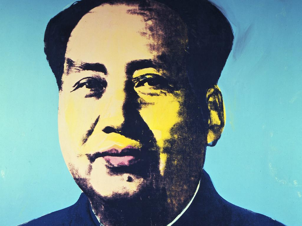 Mao Zedong, by Andy Warhol. Original paintings by the famous artist hang on the walls of Sior Elton's villa. Picture: Supplied