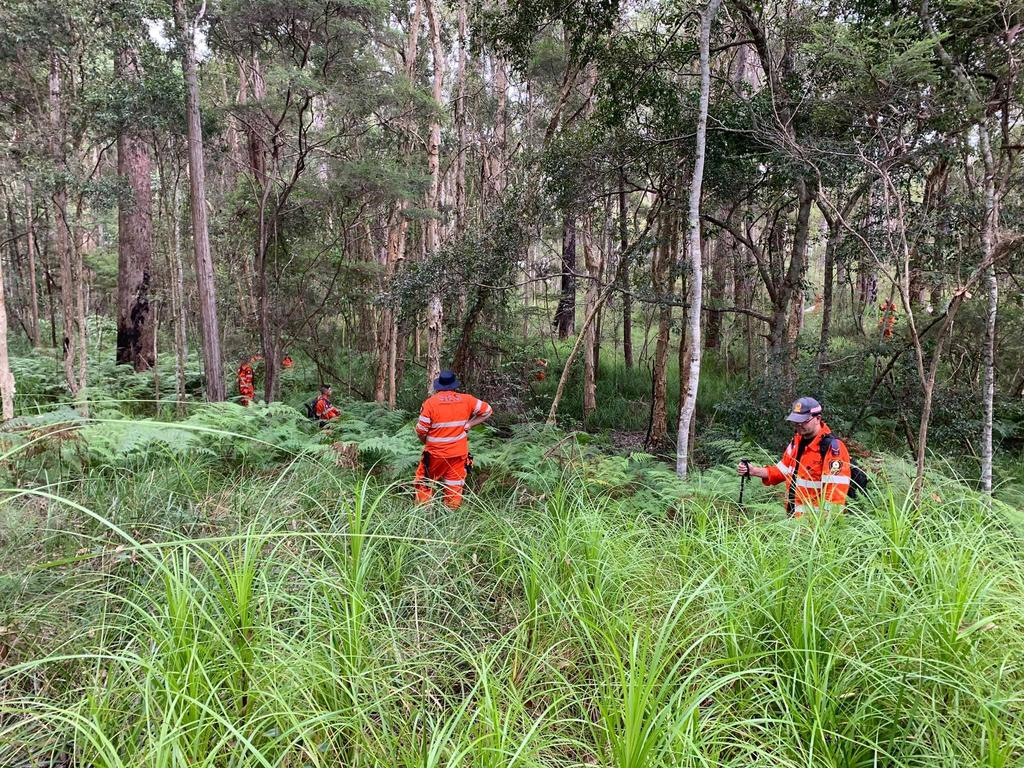 Sunshine Coast SES volunteers assisting QPS in a land search around the Mooloolah Valley area for missing Landsborough teenager, Michael Ryan.