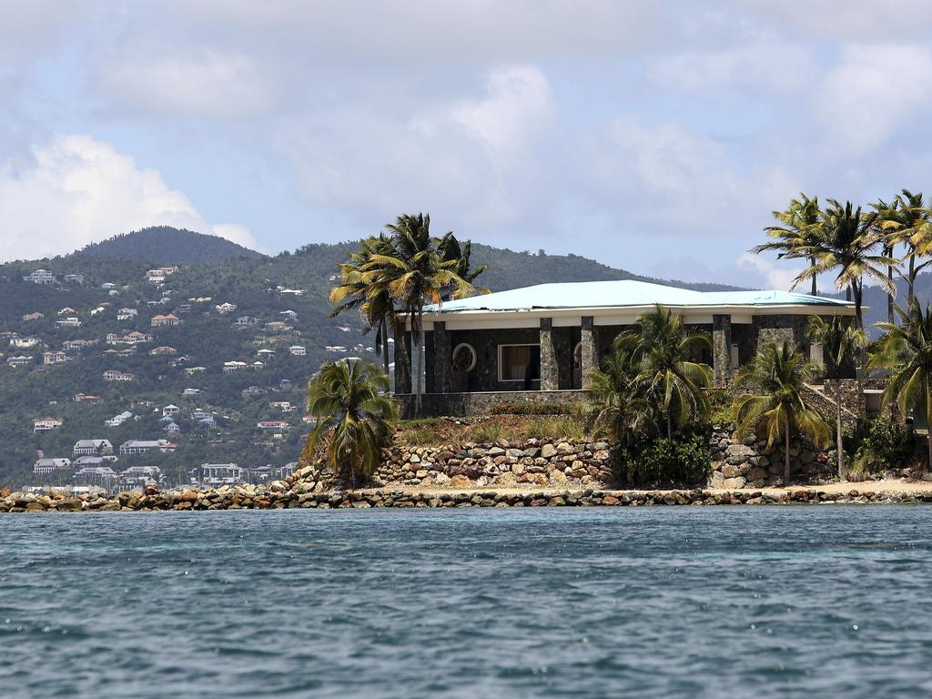 A view of Jeffrey Epstein's stone mansion on Little St. James Island, which federal authorities consider to have been Epstein's primary residence in the US. Picture: AP