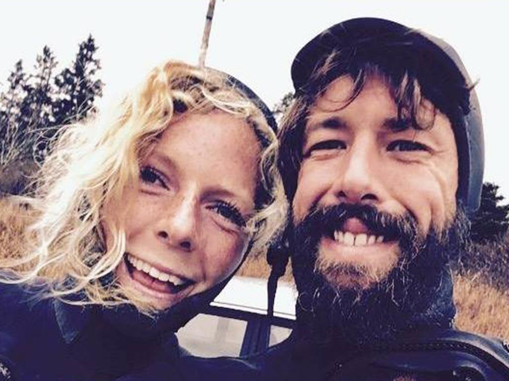 Canadian fiancee Bianca Buckley and Sean McKinnon (right), from Warnambool in Victoria who was travelling in a campervan in NZ when the pair were attacked in the early hours of Friday morning at the Te Toto Gorge carpark in Raglan.