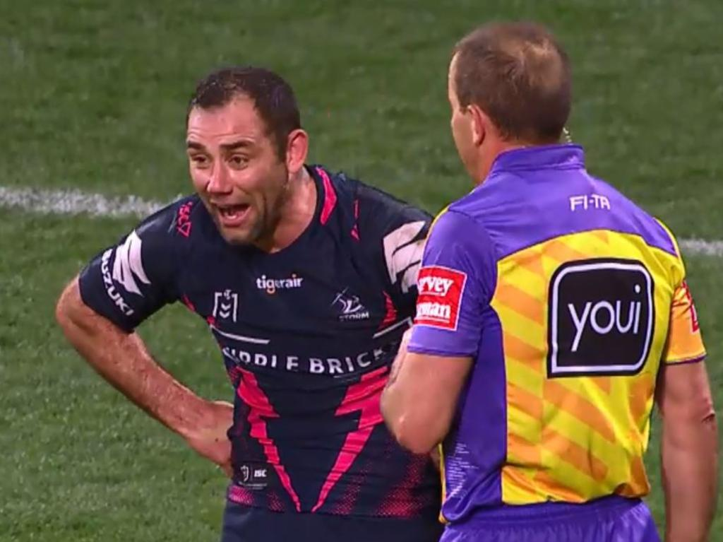 Cameron Smith's bemused reaction.