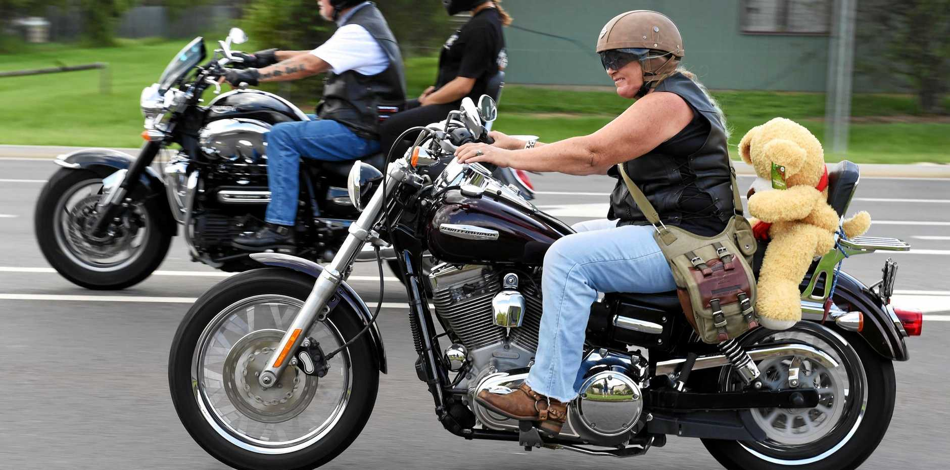 MOTOR ON: Fraser Coast Independent Riders will ride around the streets of the Heritage City before heading out to an event in Biggenden raising money for the Maryborough Hospital Auxiliary.