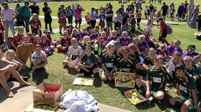 Big roll up for girls own Miniroo soccer carnival