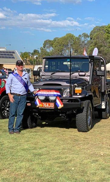 Anthony De Ruiter with his prize-winning 1983 model Toyota LandCruiser HJ47.