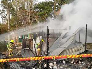 Firefighters battle village fire