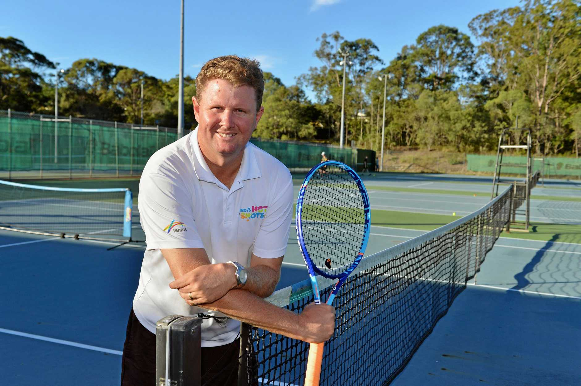 Gympie Open Tennis Tournament. Matt Watkins is competiting in the doubles section this weekend.    Photo Greg Miller / Gympie Times