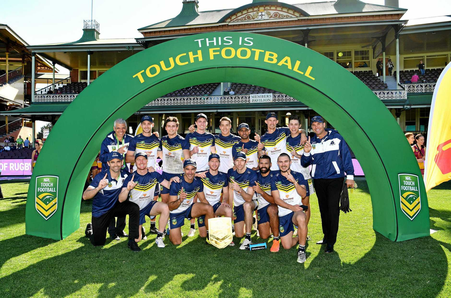The victorious North Queensland Cowboys team.