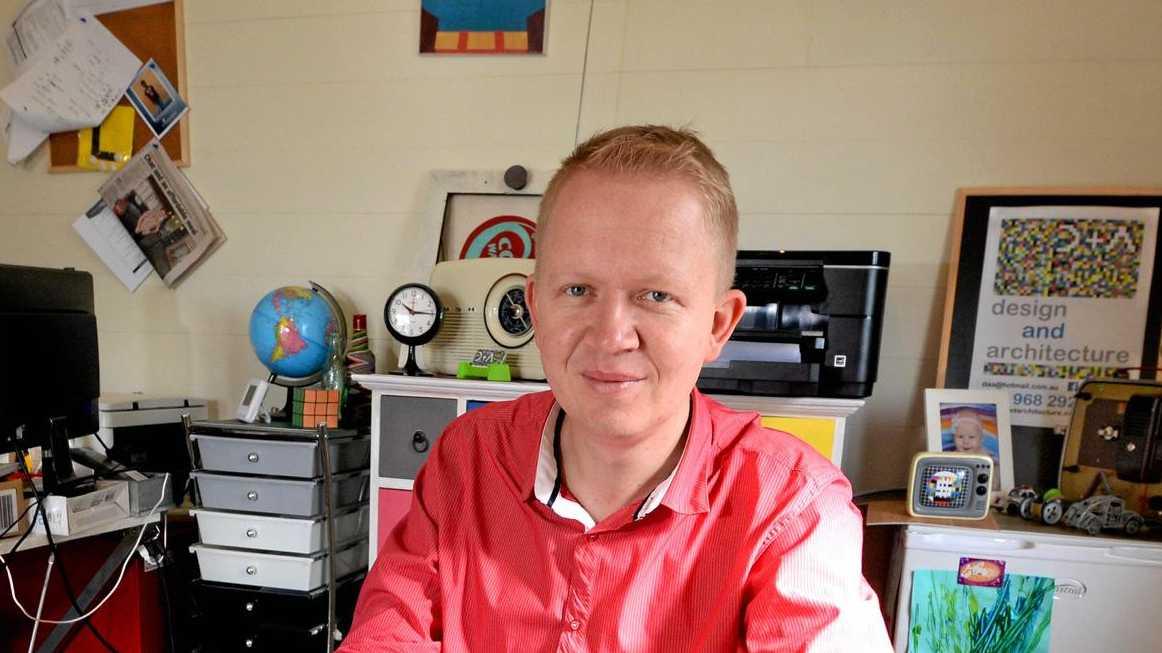 Colin Strydom in his office. Photo Allan Reinikka / The Morning Bulletin