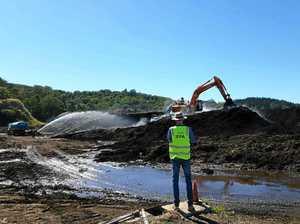 EPA monitoring water runoff at tip
