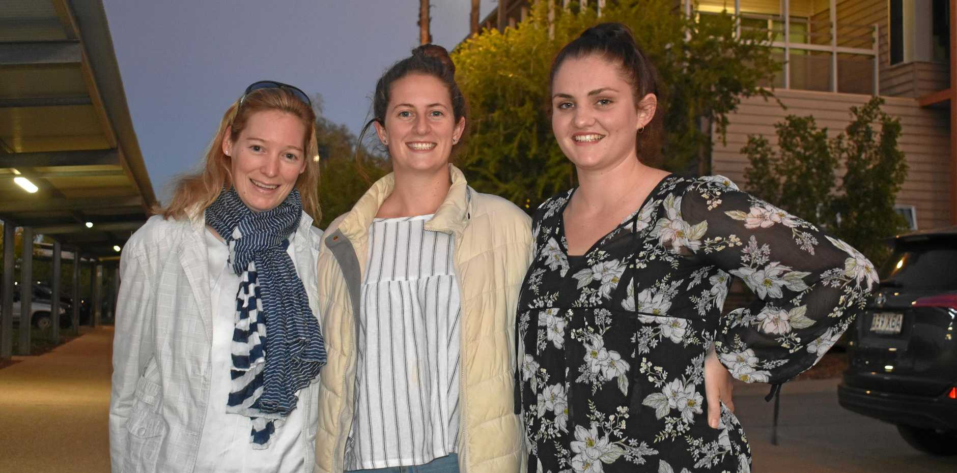 ON THE JOB: Nina Sugg, Abbey Bates and Kayla Brock will be based around the southwest for their graduate year in the health service.