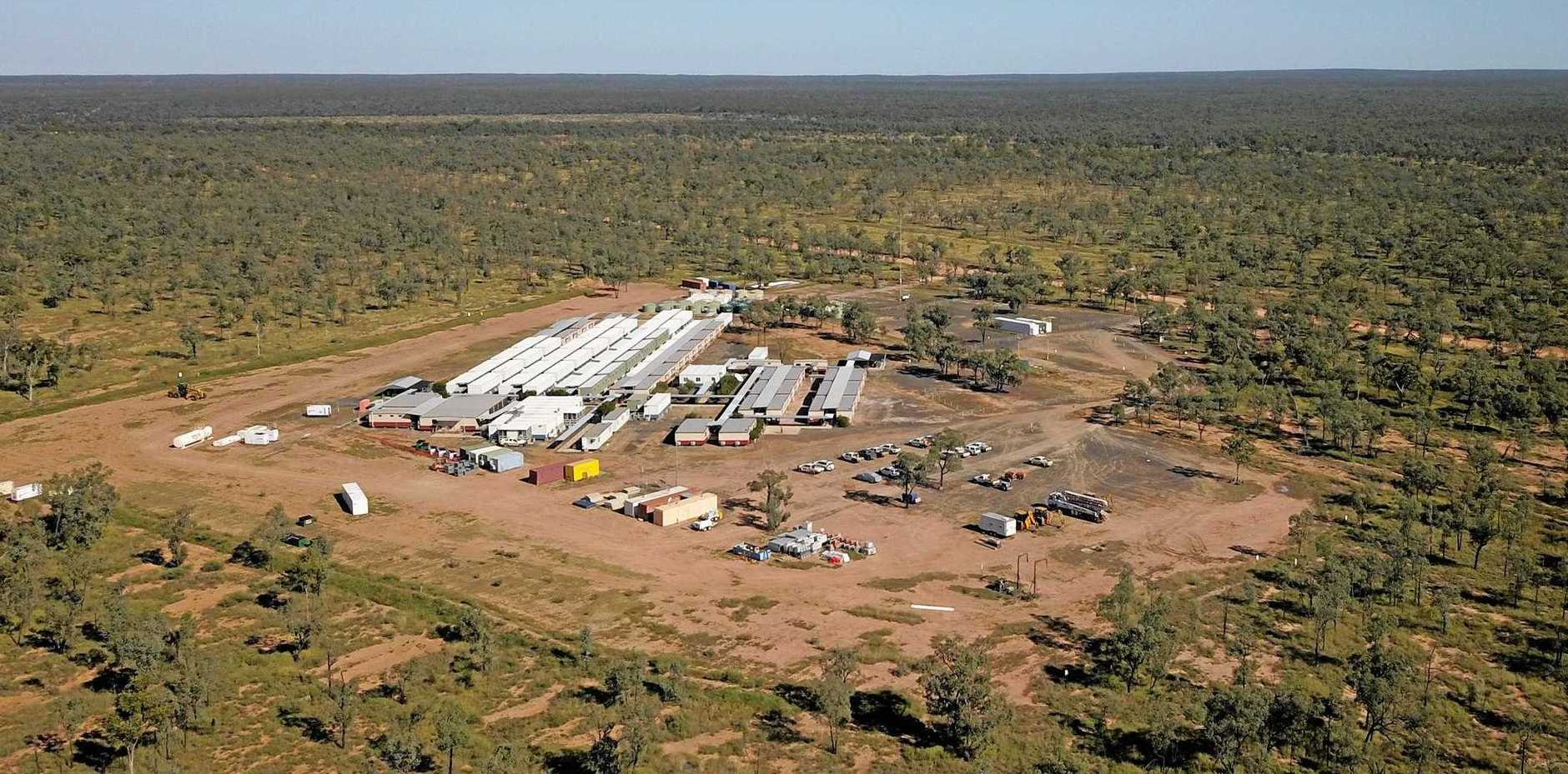 Land clearing and surveying is under way at Adani's Carmichael mine site.
