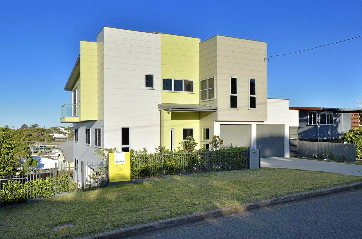 ARCHITECTURALLY DESIGND: The five bedroom, three bathroom home at 4 Bayne Street, West Gladstone is on the market for a staggering $849,000.