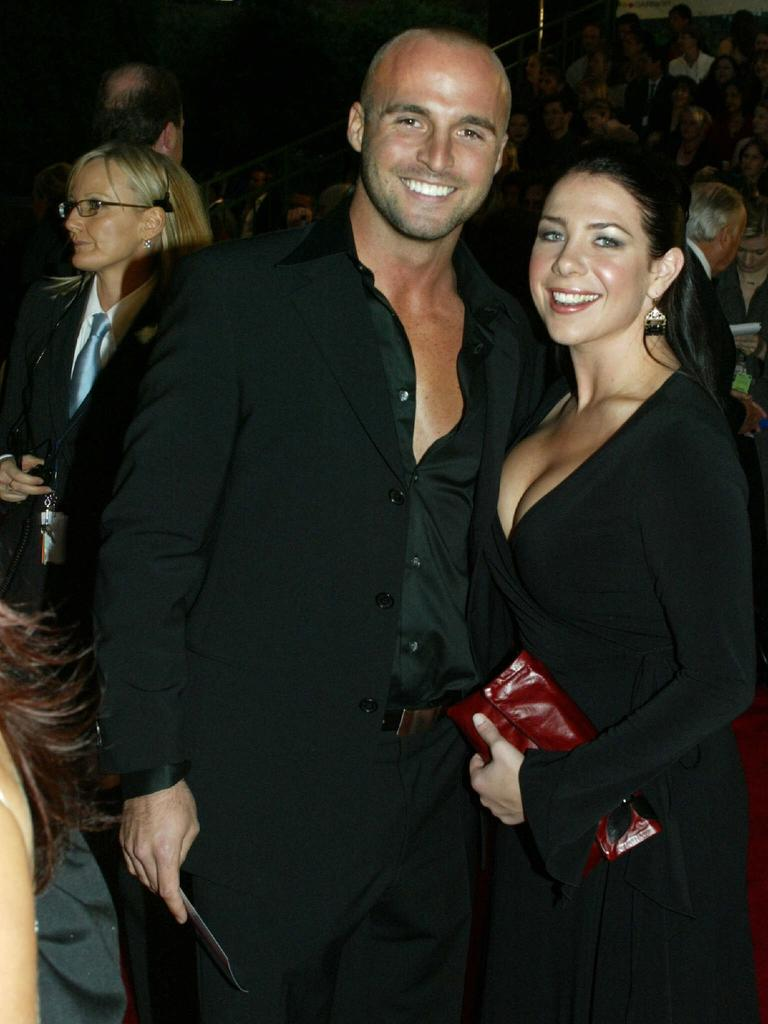 Kate Ritchie and Unwin at the Logie Awards in 2003.