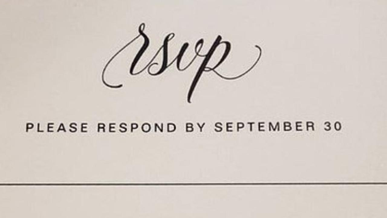 A 'rude' wedding RSVP has angered Reddit users. Picture: Reddit