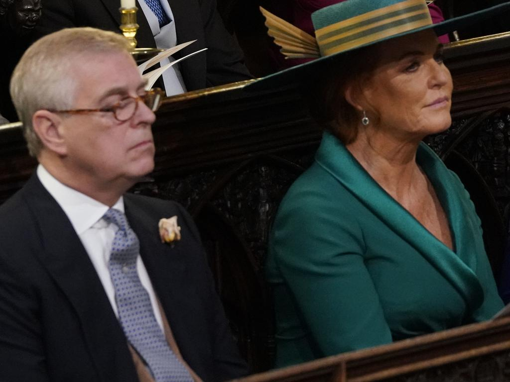 Prince Andrew and Sarah Ferguson, who took Andrew away to Spain to escape the scrutiny surrounding the Epstein sex trafficking allegations, according to royal insiders. Picture: WPA Pool/Getty Images