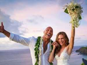 The Rock ties the knot