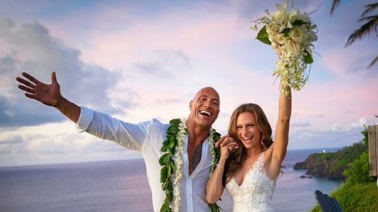 The Rock marries