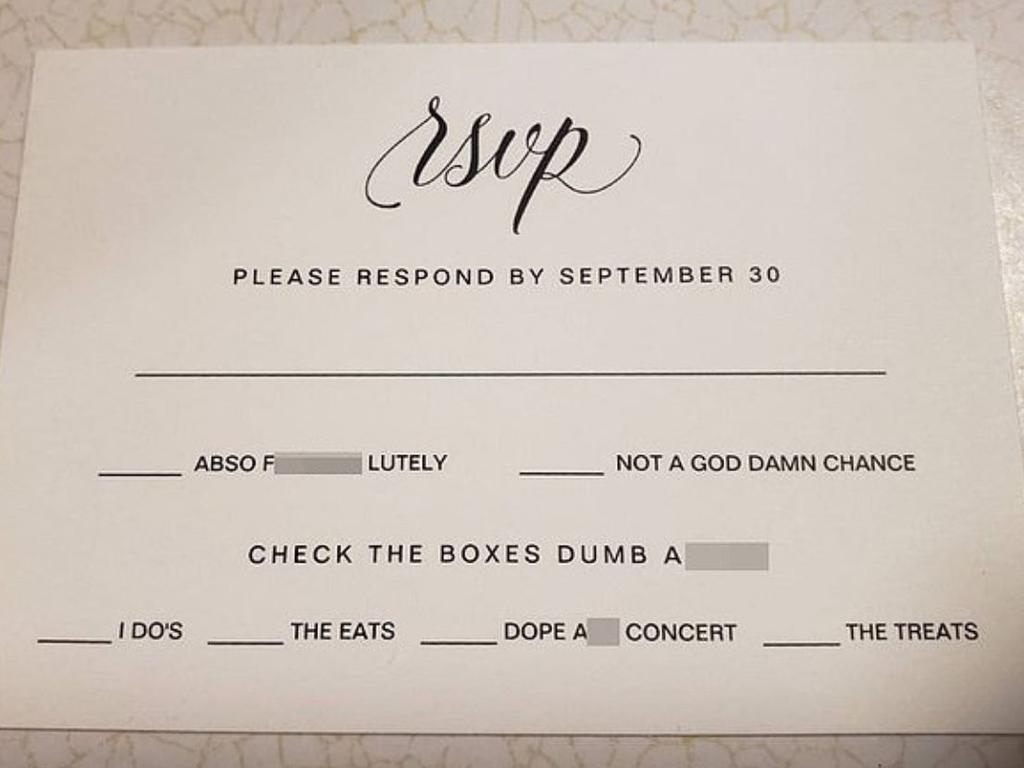 A RSVP has gone viral. Picture: Reddit