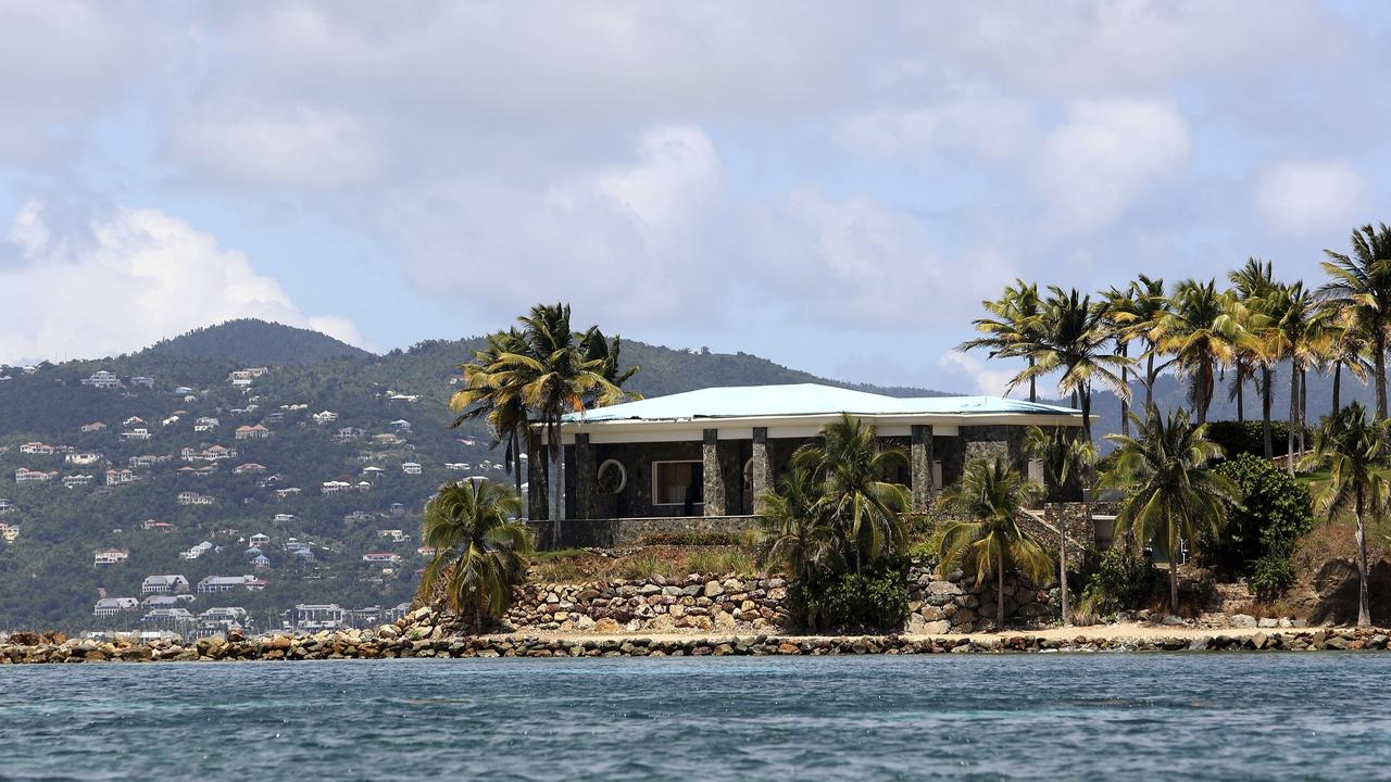 A view of Epstein's stone mansion on Little St James Island. Picture: Gabriel Lopez Albarran/AP Photo